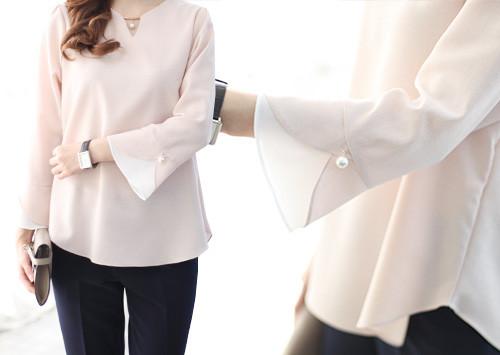 J44 BL4408 / Erin三角形珍珠女衬衫(大订单!)