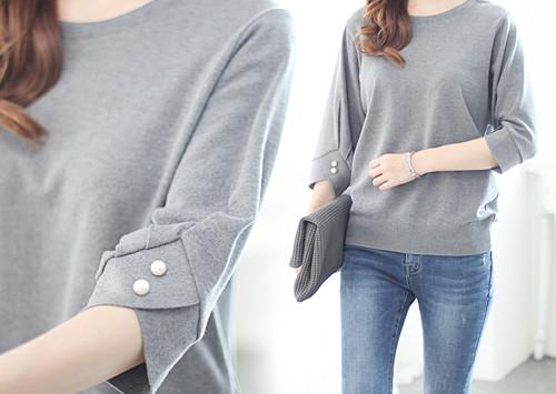 L31 KN5182 /感性零售珍珠针织衫(最好的顾客满意!)