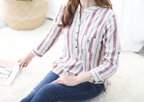 MK BL5276 / SEVIA 3色条纹衬衫(订购极大!)